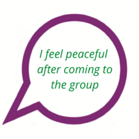 """Quote from survivor: """"I feel peace after the group"""""""